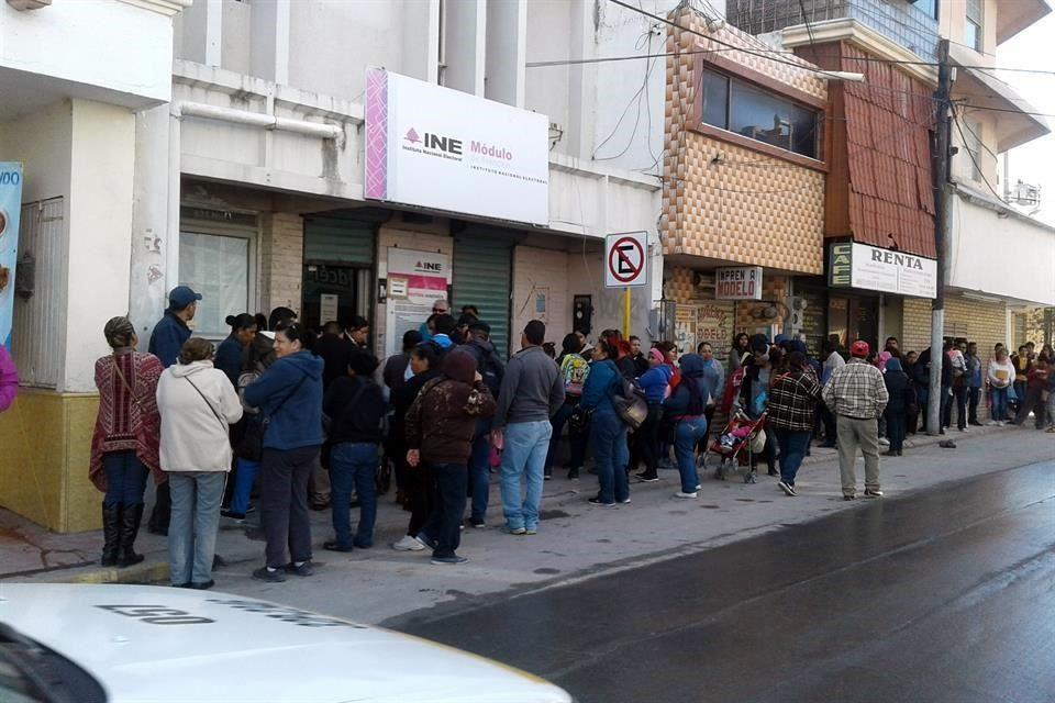 Causan Caos Por Credencial En Reynosa