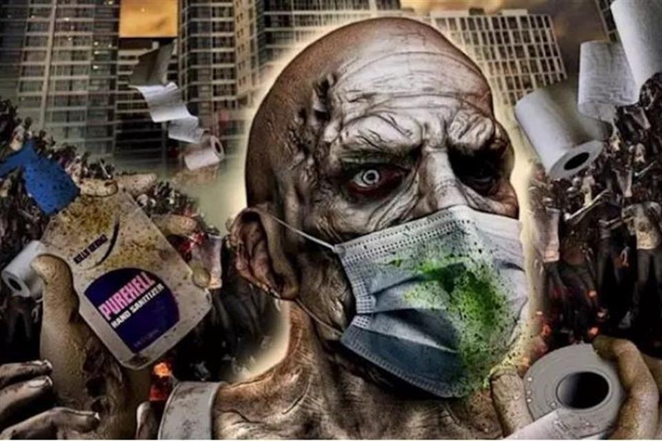 Inspira Covid-19 filme de zombis