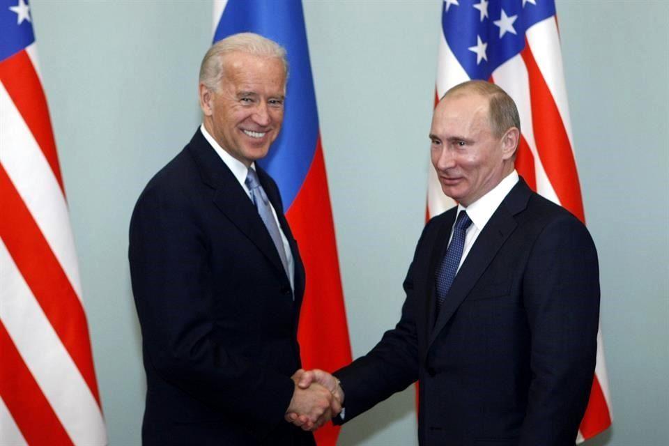 Prevén reunión de Putin y Biden en junio