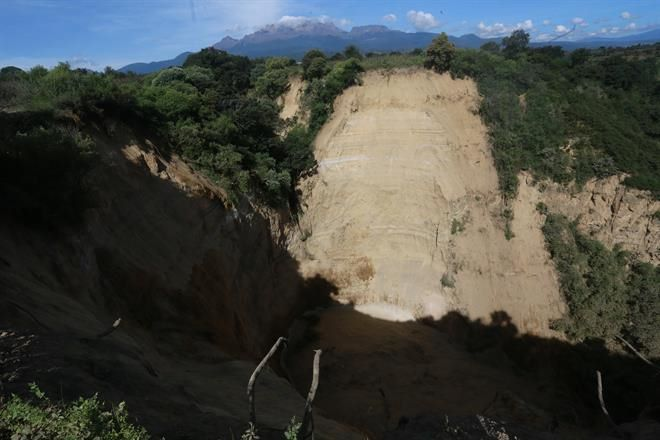 Revisan derrumbe de 4 km. en Huejotzingo