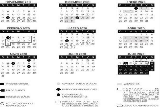 Calendario Escolar 2020 Sep Oficial.Alista Sep Cuatro Megapuentes