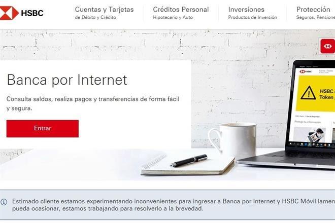 Falla banca digital de HSBC México